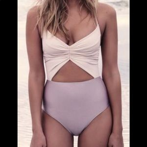 Free People Flora two tone swimsuit